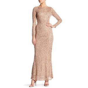 Marina Long Sleeve Sequin Dress